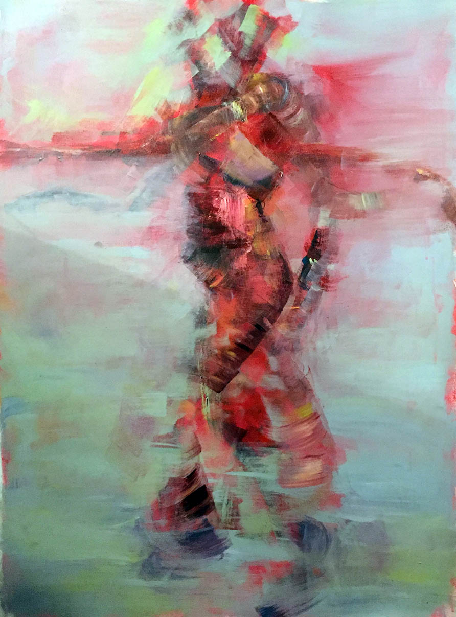 Abstract figure in motion