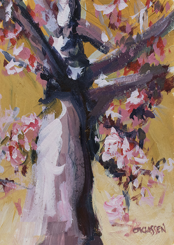 painting of a spring tree